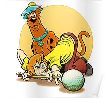 Scooby Doo and Shaggy Billiard Poster