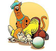 Scooby Doo and Shaggy Billiard Photographic Print