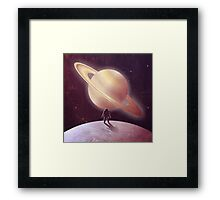 A View From Enceladus Framed Print