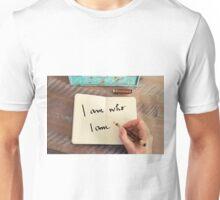 Motivational concept with handwritten text I AM WHO I AM Unisex T-Shirt