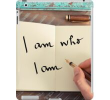 Motivational concept with handwritten text I AM WHO I AM iPad Case/Skin