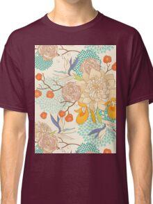 Peony Flower Pattern Classic T-Shirt