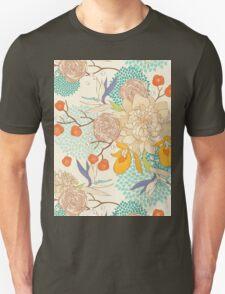 Peony Flower Pattern T-Shirt
