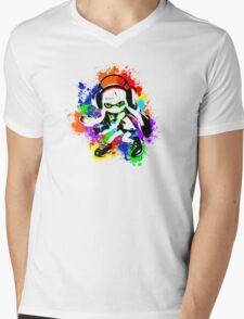 Inkling Girl - Splatter Mens V-Neck T-Shirt