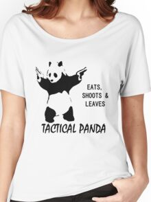 Tactical Panda Eats Shoots Leaves Women's Relaxed Fit T-Shirt