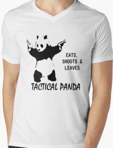 Tactical Panda Eats Shoots Leaves Mens V-Neck T-Shirt