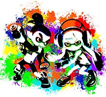 Inkling Boy and Girl - Splatter by LauryQuinn