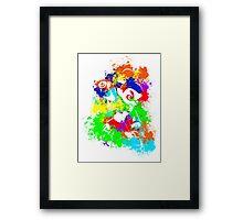 Inkling Boy - Splatter v2 Framed Print
