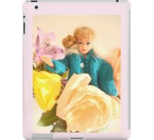 Vintage Barbie with Flowers iPad Case/Skin