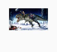 Hitler Riding a T. Rex in the Snow Unisex T-Shirt