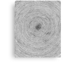 One Line Sprial Canvas Print