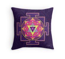 Sri Ganesha Yantra Throw Pillow