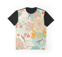 Peony Flower Pattern Graphic T-Shirt