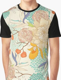 Peony Flower Pattern Graphic T-Shirt