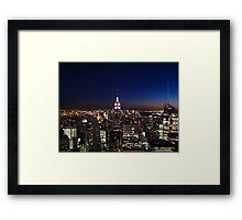 Empire State Building in New York City Framed Print