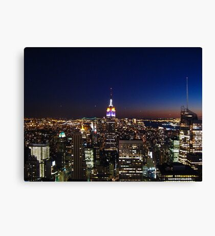 Empire State Building in New York City Canvas Print