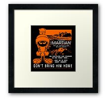 MM Martian Framed Print