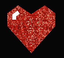 pixel valentines day heart by gossiprag