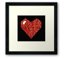 pixel valentines day heart Framed Print