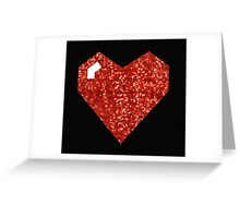 pixel valentines day heart Greeting Card