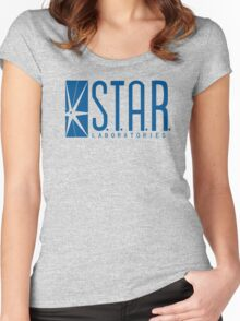 S.T.A.R. Laboratories (blue) Women's Fitted Scoop T-Shirt