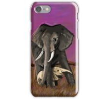 Elephant with baby iPhone Case/Skin