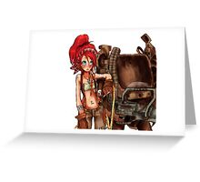 Steampunk girl with Amplified Mobility Platform Greeting Card