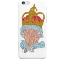 King George quotes (light background) iPhone Case/Skin