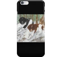 Landseer Newfoundland Dogs Cathy Peek Pines Snow iPhone Case/Skin