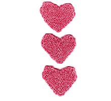 Pink Love Hearts Knitted by KeksWorkroom