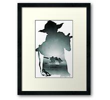 Yoda Silhouette Framed Print