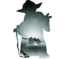 Yoda Silhouette Photographic Print