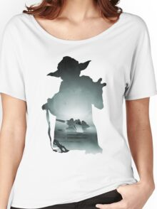 Yoda Silhouette Women's Relaxed Fit T-Shirt