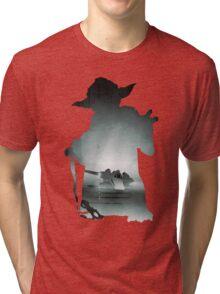 Yoda Silhouette Tri-blend T-Shirt