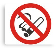 no smoking Canvas Print