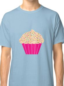 Pink Cupcake with Sprinkles Classic T-Shirt