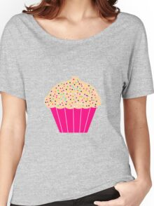 Pink Cupcake with Sprinkles Women's Relaxed Fit T-Shirt