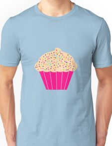 Pink Cupcake with Sprinkles Unisex T-Shirt