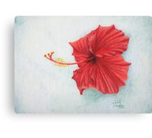 """Red Hibiscus"" Canvas Print"