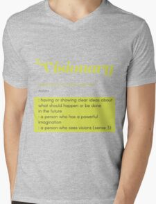 Definition of Visionary Mens V-Neck T-Shirt