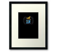 Black Mage - Sprite Badge Framed Print