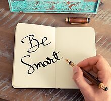 Motivational concept with handwritten text BE SMART by Stanciuc