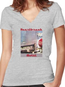 Heartbreak Motel Women's Fitted V-Neck T-Shirt