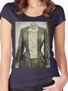 Ladies Victorian Costume Women's Fitted Scoop T-Shirt