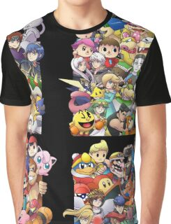 Super Smash Bros. 4 Ever + All DLC Graphic T-Shirt