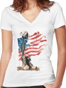 Fallen Women's Fitted V-Neck T-Shirt
