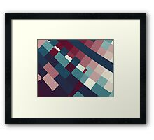 Windows Abstract Squares Red Blue White Framed Print
