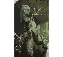 Female Elf Tarot Card Photographic Print