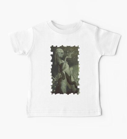 Female Elf Tarot Card Baby Tee