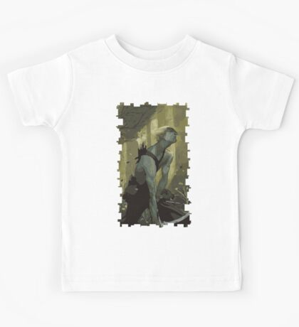 Male Elf Tarot Card Kids Tee